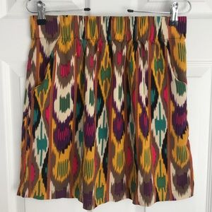 Cabi multi-colored mini skirt